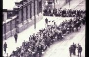 מעצר יהודים בבריסל (תצלום: מוזיאון השואה בוואשינגטון)