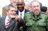 קסטרו עם נשיא ברזיל לולה (תצלום: אז'נסיה ברזיל)