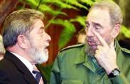 לולה עם פידל קסטרו, 2003 (תצלום: אז'נסיה ברזיל)