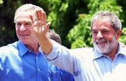 לולה עם ג'ורג' בוש (תצלום: אז'נסיה ברזיל)