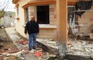 """בית באור הנר שנפגע מטיל בזמן """"עופרת יצוקה"""" (תצלום: הסוכנות היהודית)"""