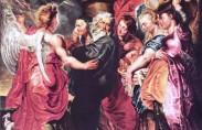 Lot fleeing Sodom, Peter Paul Rubens