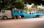 Camel bus in Havana (photo: Chris Lancaster)