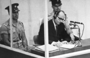 Eichmann during his trial, 1961 (photo: USHMM, courtesy of Israel Government Press Office)